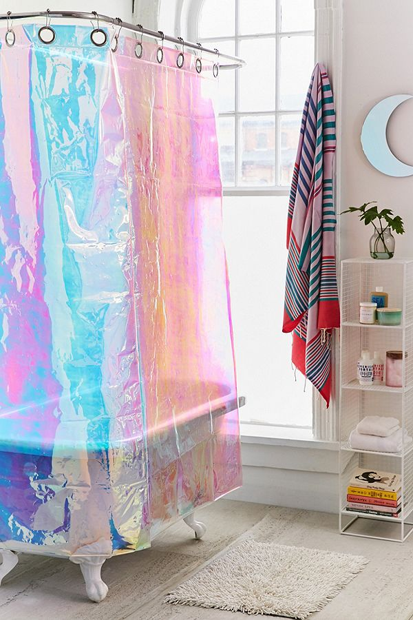 Iridescent Shower Curtain Image Urban Outfitters