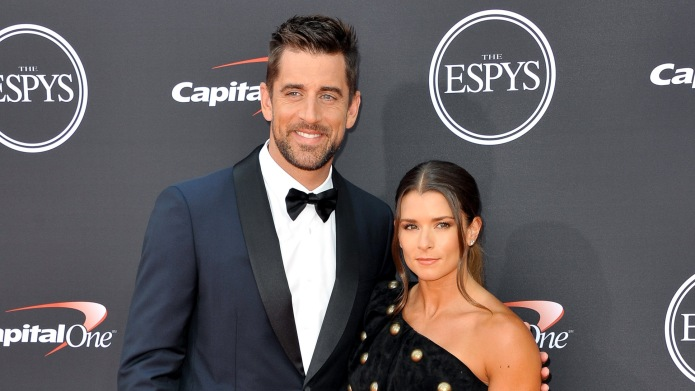 Danica Patrick and Aaron Rodgers at