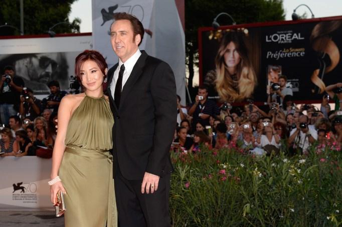 Nicholas Cage and Alice Kim at the Venice International Film Festival