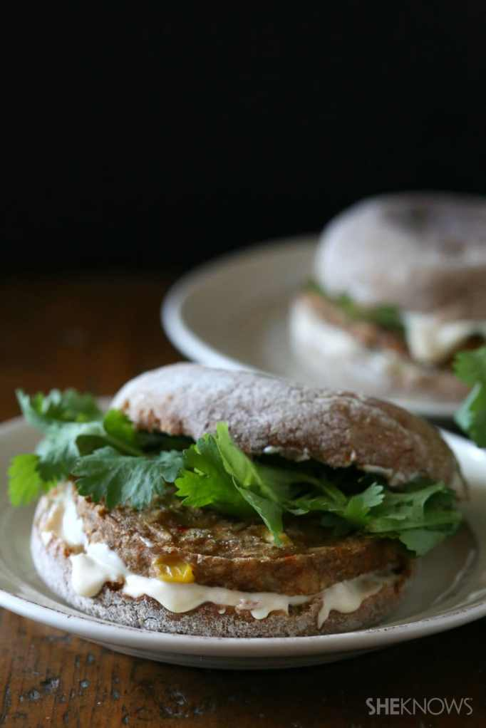 Chickpea and butternut squash patties