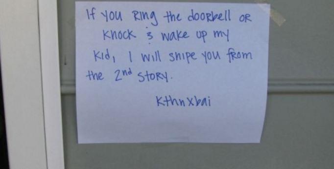 Funny-do-not-disturb-doorbell-notes