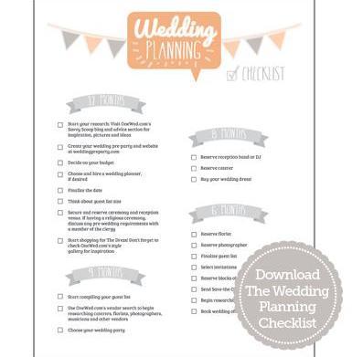 Wedding planning checklist and timeline
