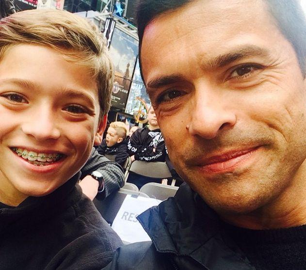 Joaquin and Mark Consuelos