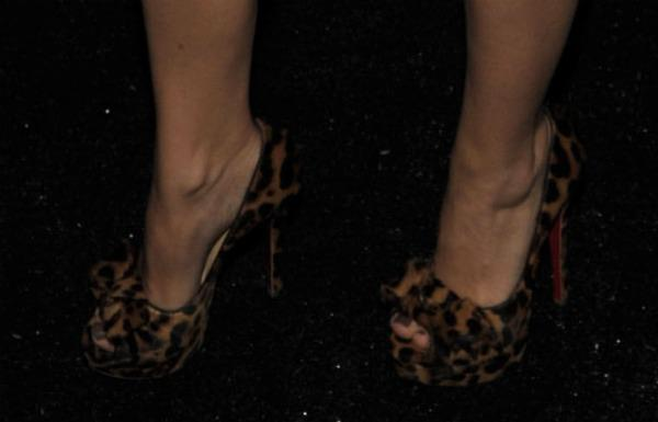 Who wore these leopard peep-toe pumps?