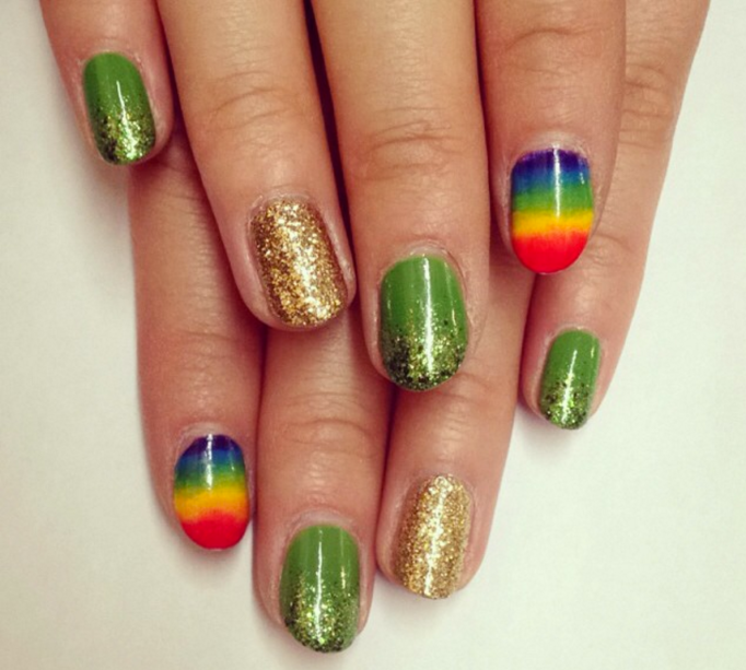 st patricks day-inspired nails