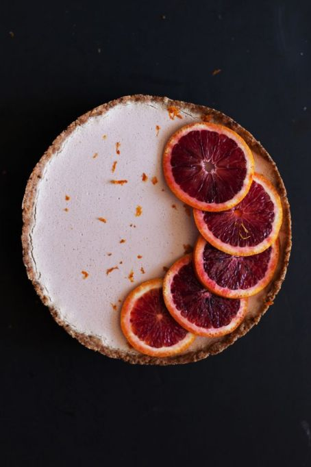 Dairy free dessert recipes: white chocolate blood orange tart