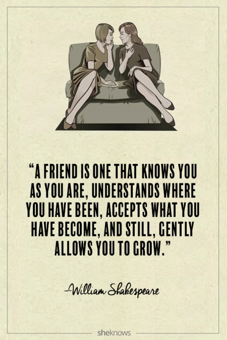 William Shakespeare quote about friendship