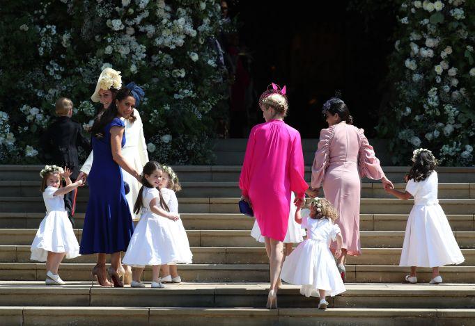 All the royal kids at the royal wedding