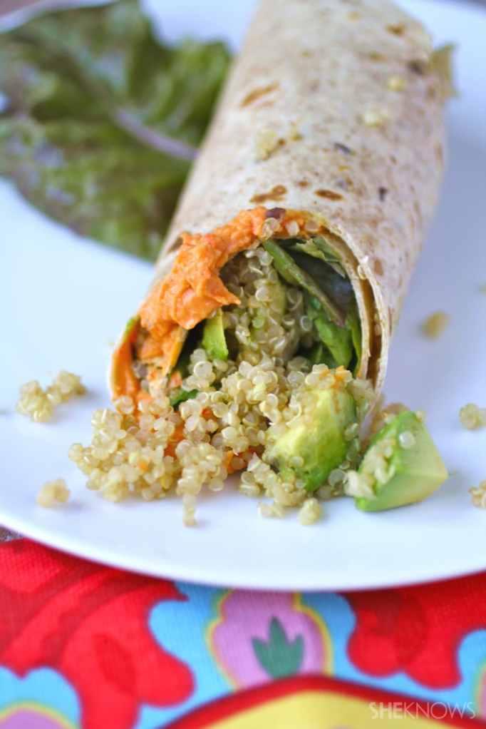 Quinoa-hummus wrap