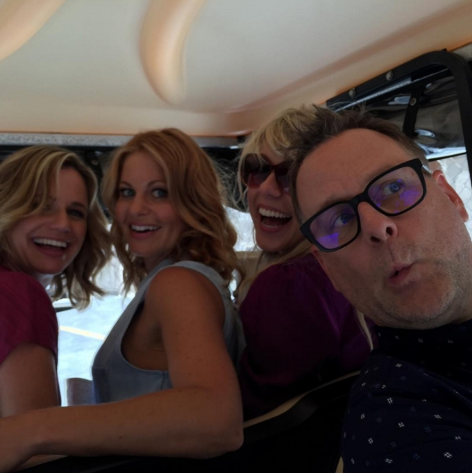 Andrea Barber, Candace Cameron Bure, Jodie Sweetin, Dave Coulier