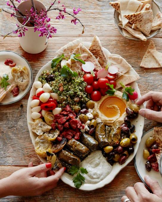 Meze platter from What's Gaby Cooking