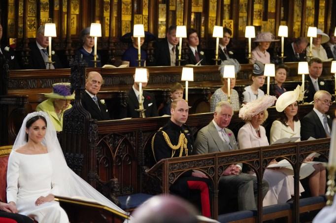 The royal family at the royal wedding