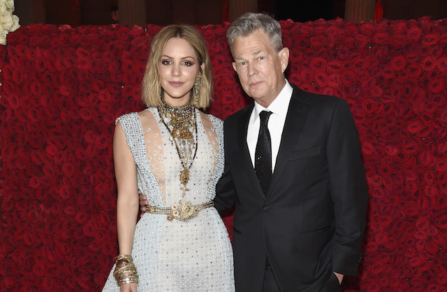 Katharine McPhee and David Foster attend the Heavenly Bodies: Fashion & The Catholic Imagination Costume Institute Gala