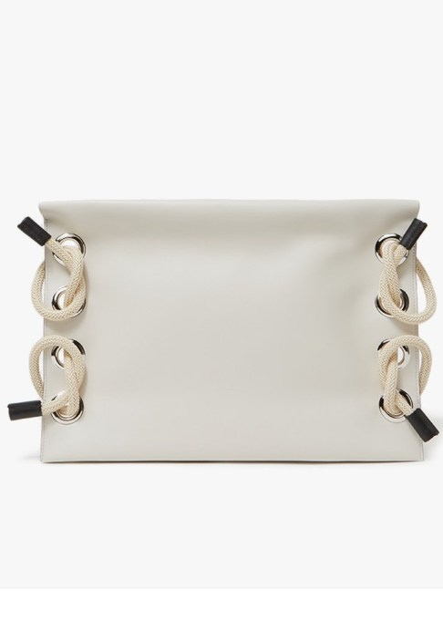Clutches That Will Actually Hold Your Stuff | Marni Runway Satelite Calfskin Clutch in Glass