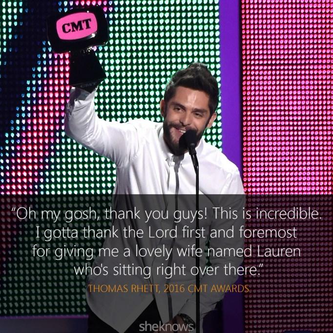 Thomas Rhett 2016 CMT Awards