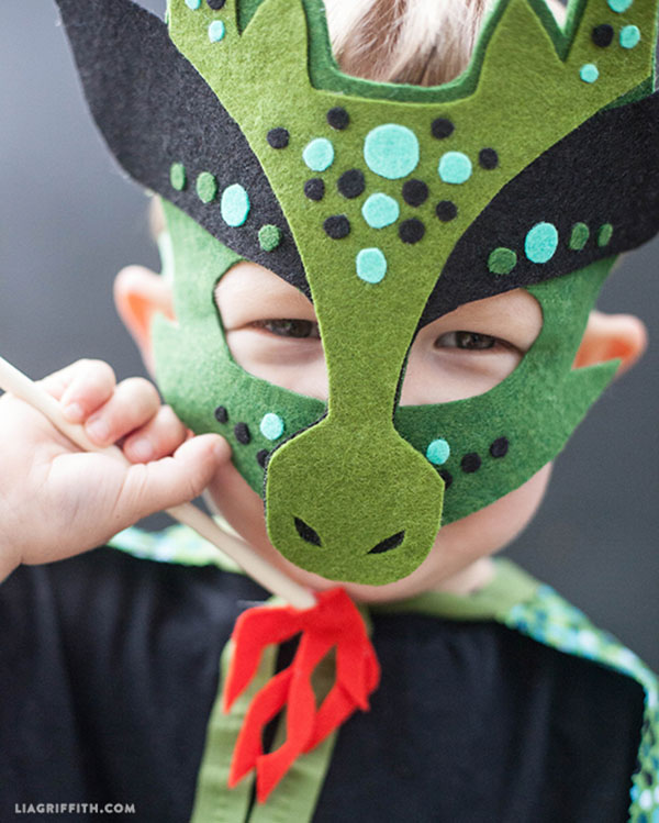 7 Super-Easy (Yet Totally Adorable) Halloween Crafts: No-Sew Dragon Mask