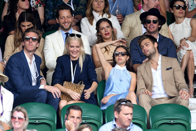 Check out these celebrities at the 2017 Wimbledon tournament: Bel Powley & Douglas Booth