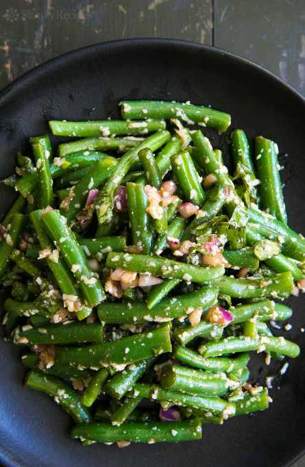 New Ways to Serve Up Green Beans This Thanksgiving: Green bean salad with basil
