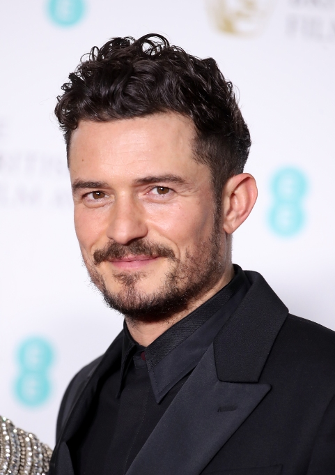 Orlando Bloom attends the EE British Academy Film Awards