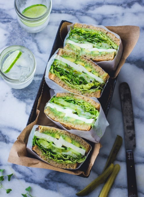 Sandwiches and Wraps for a Healthy Lunch | Green Goddess Sandwiches