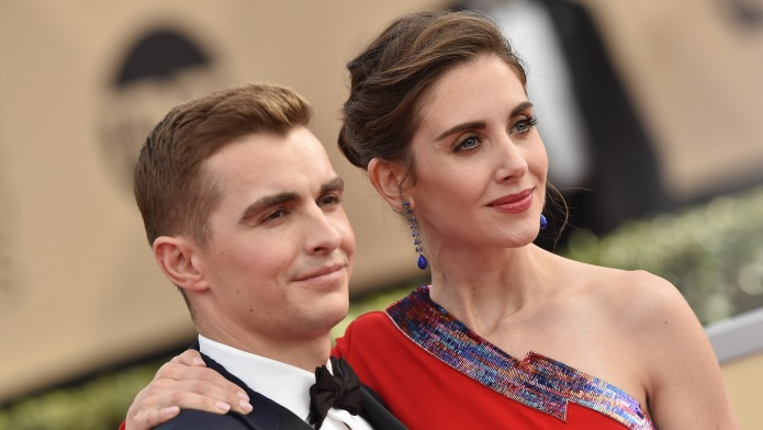 Alison Brie and Dave Franco Red