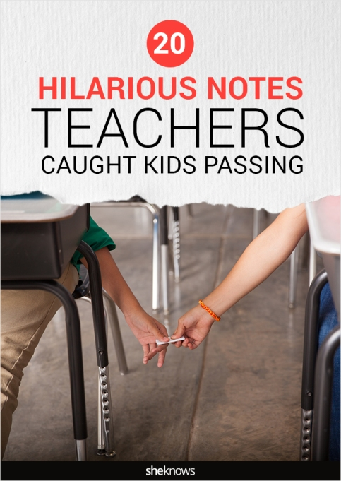 funny notes kids pass in school