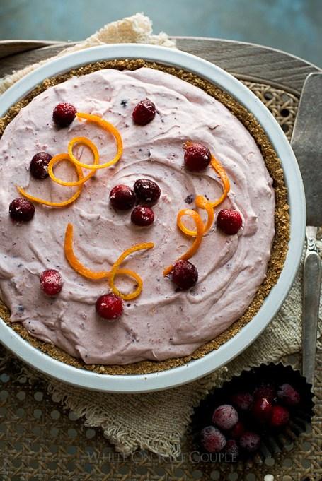 Easy No-Bake Thanksgiving Desserts: Cranberry Pie