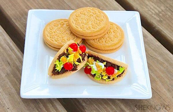 Cookie mini tacos are so dang