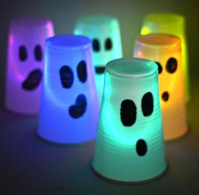 Halloween glow stick crafts for kids