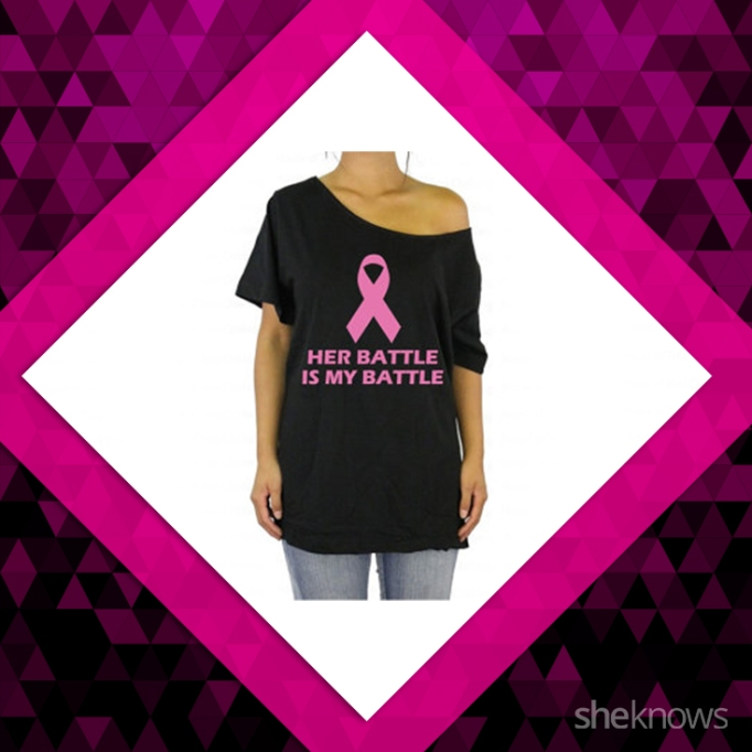 Her battle is my battle, breast cancer shirt