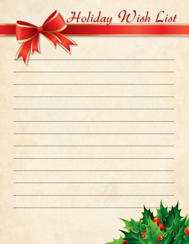 Holiday Wish List 2