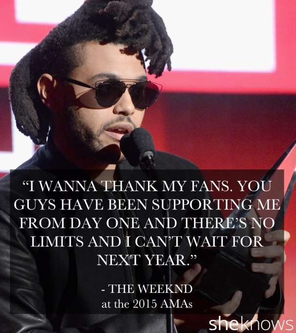 The Weeknd 2015 AMAs