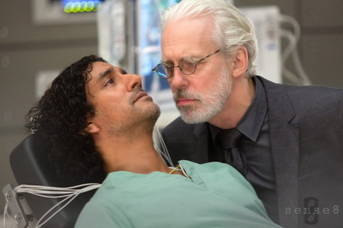 Naveen Andrews and Terrence Mann n Sense8