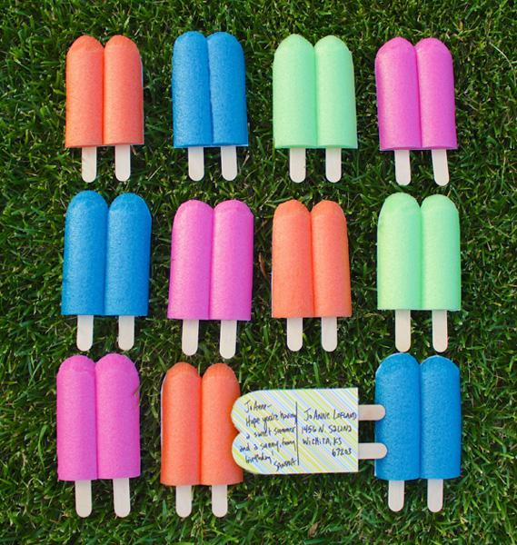 How to make popsicle postcards