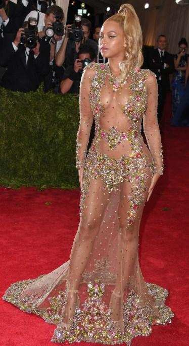 Beyonce naked dress at the Met Gala