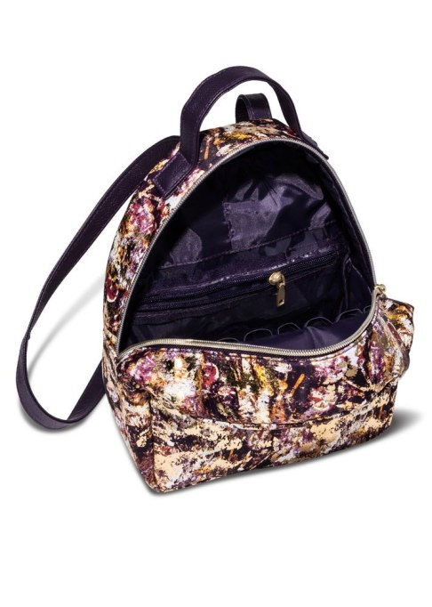 Sonia Kashuk Cosmetic Bag Cosmetic Backpack Distress Floral with Foil