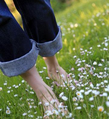 Why walking barefoot is good for