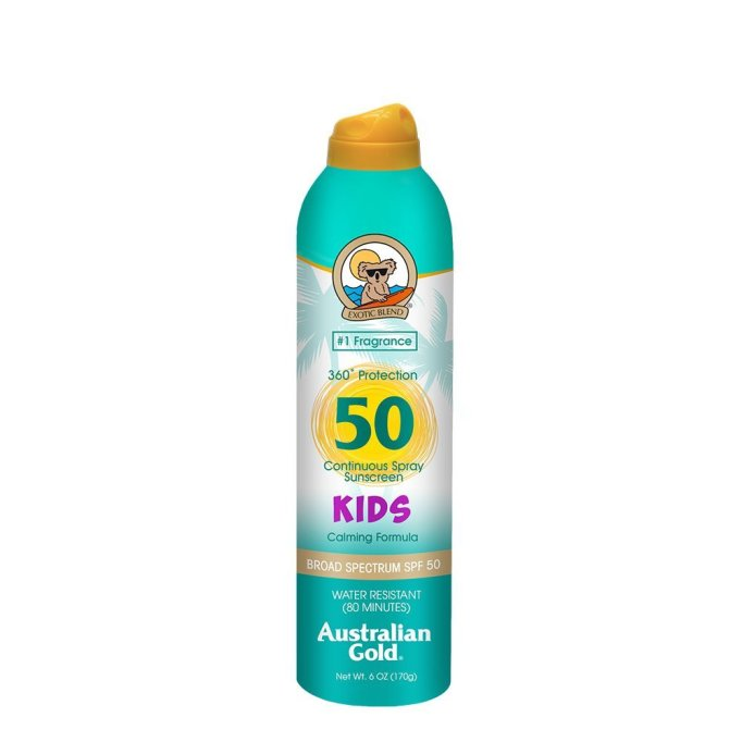 Australian Gold kids continuous spray sunscreen, SPF 50