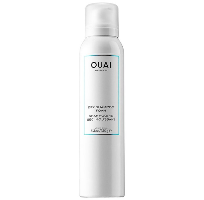 Products That Get Rid of Greasy Hair Fast   Ouai Dry Shampoo Foam