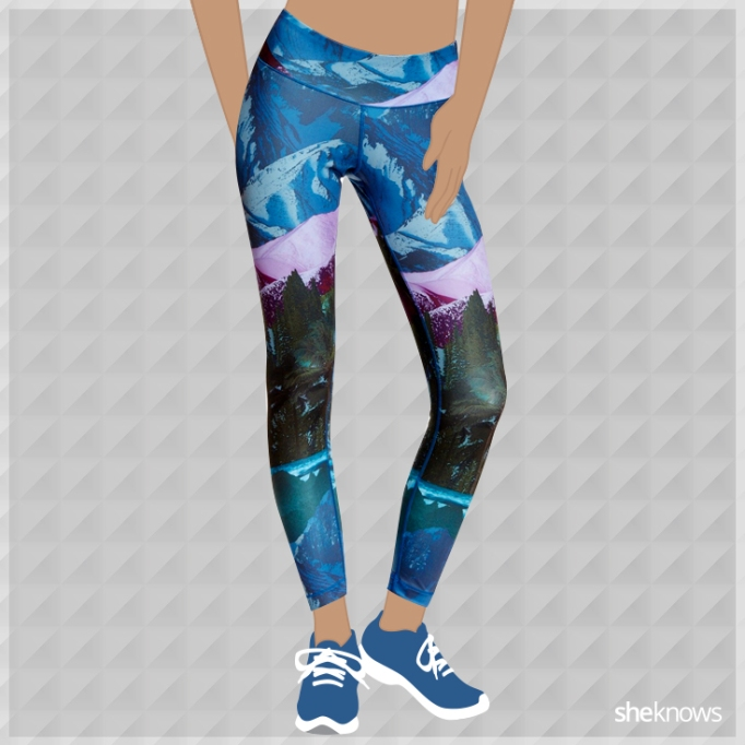 Reebok blue and purple leggings