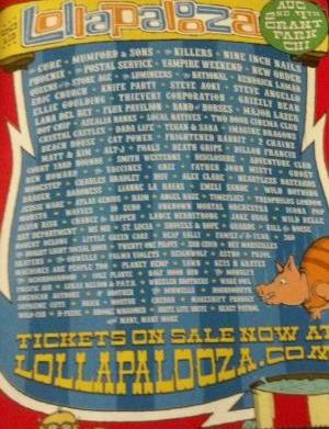 Lollapalooza lineup may have been leaked