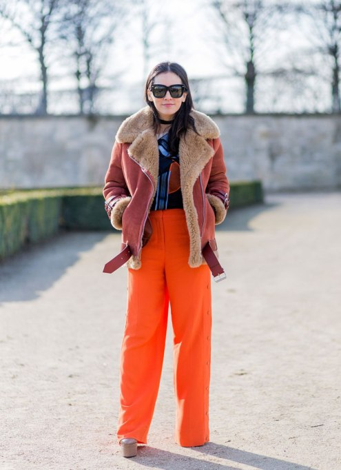 Perfect to Wear Shearling This Season | Orange you Glad it's Shearling?
