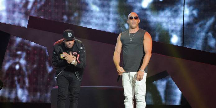 Vin Diesel Rapping at the Billboard