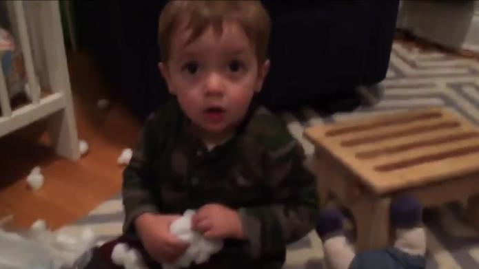 Oops! Toddler can't say 'cotton balls'