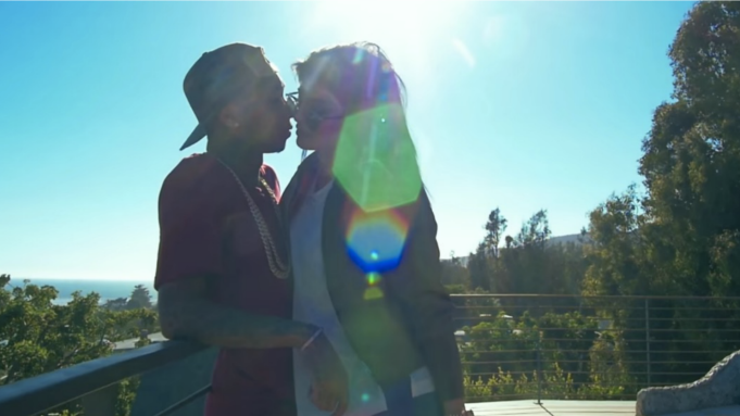 Kylie Jenner and Tyga in 'Stimulated' music video