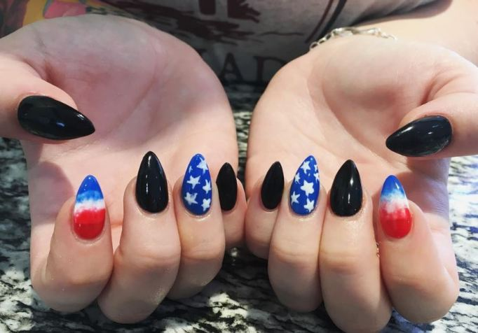 Stiletto nails for 4th of July