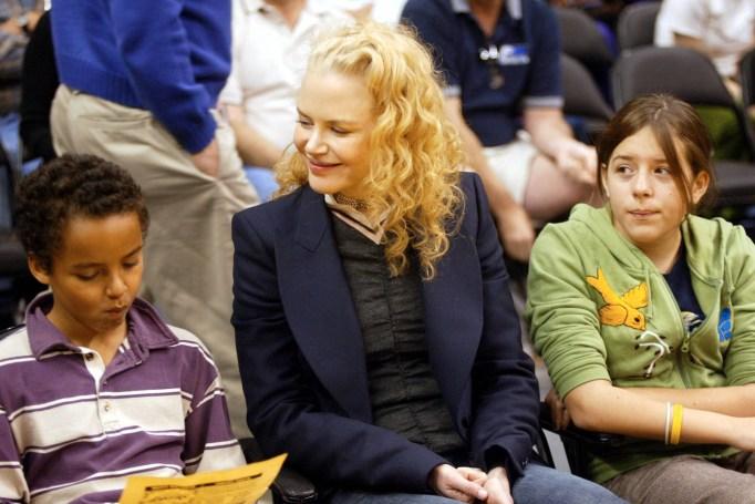 Nicole Kidman and her children