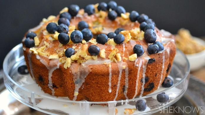 Blueberry, beer and brown butter Bundt