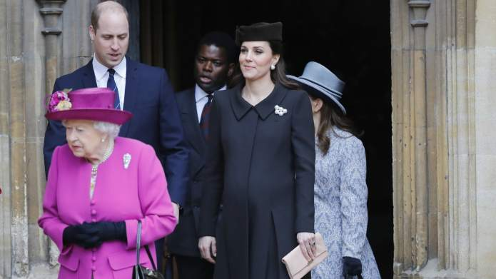 A Very Pregnant Kate Middleton Makes