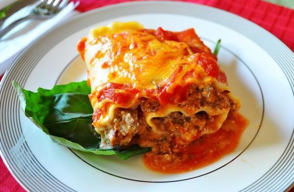 Tonight's Dinner: Lasagna roll-ups